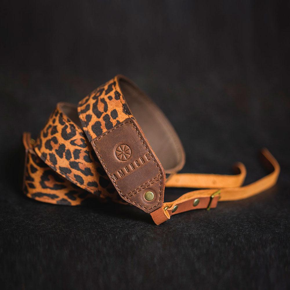 Correa de cuero de leopardo